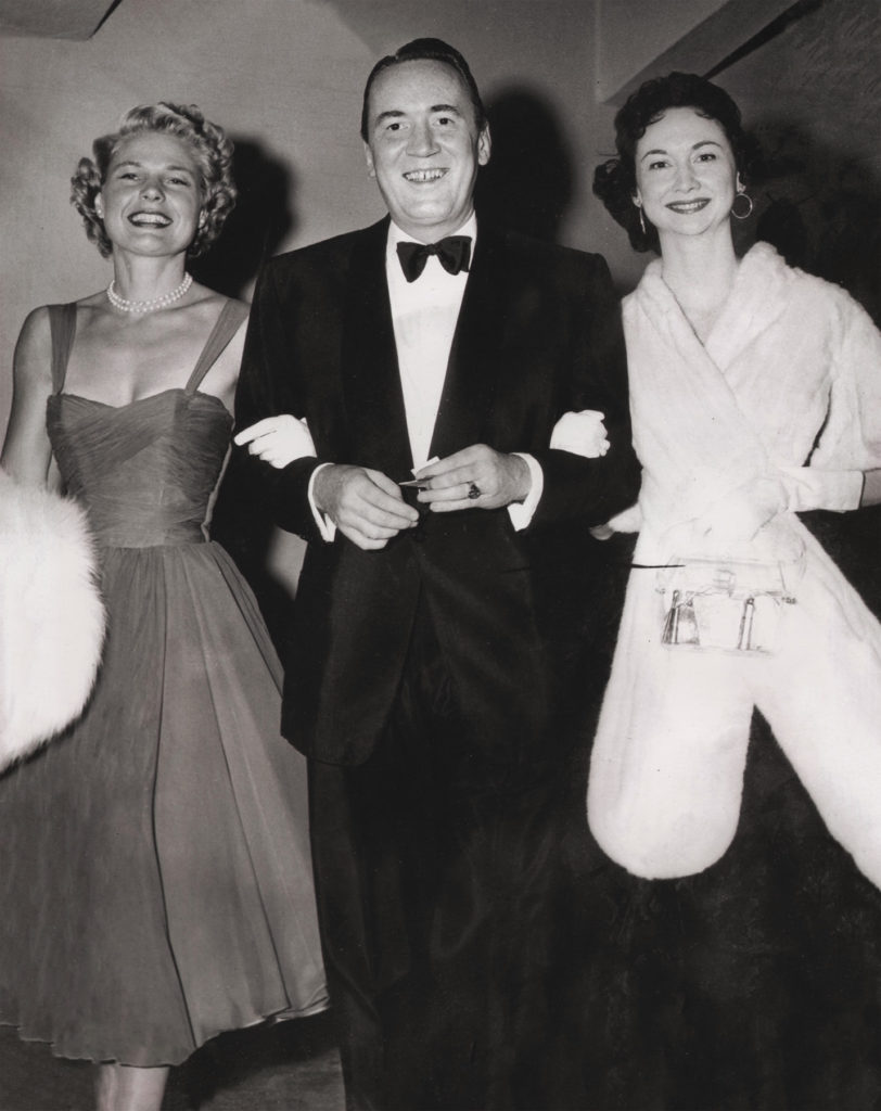 Dorothy having a night on the town with friend Jean Bach and husband Dick Kollmar.