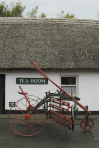 The tea room in Bunratty Village.