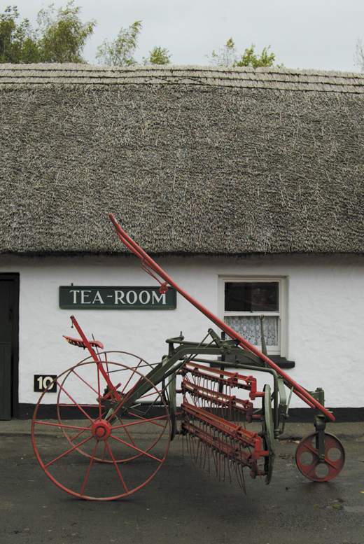 <em>The tea room in Bunratty Village.</em>