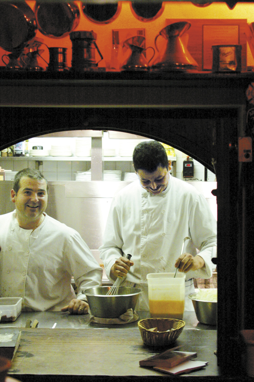 <em>The chefs at Durty Nelly's Pub preparing lunch.</em>