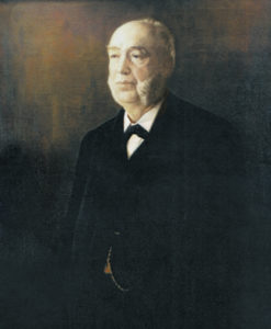 The portrait of Michael Moran, founder of Moran Towing, that hangs in the company's headquarters in Greenwich, Connecticut. It was painted by C.G. Fox.