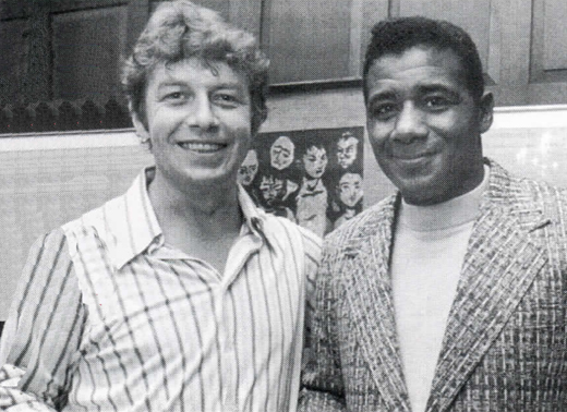 <em>Pete and boxing champion Floyd Patterson at a party in Hamill's house in Park Slope, Brooklyn.</em>