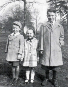 Pete (right), his brother Tommy and sister Kathleen on an Easter Sunday in Prospect Park, Brooklyn.