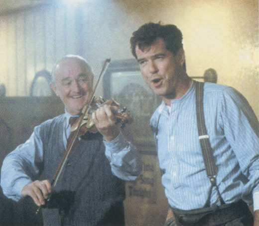 <em>Brosnan in character as Desmond Doyle in the movie </em>Evelyn.