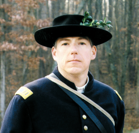 <em>Ron McGovern, a founder of the Irish Brigade reenactors.</em>