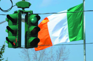 The Tipperary Hill traffic light in Syracuse, New York that is green on the top instead of red. Walsh's father Jack Walsh, a proud Irish-American, hailed from this area.