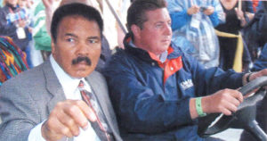 The one and only Muhammad Ali who attended the Games. Ali's great-grandfather was from County Clare.