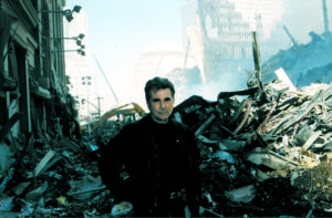 Walsh at Ground Zero beginning the hunt for the September 11, 2001 terrorists on America's Most Wanted.