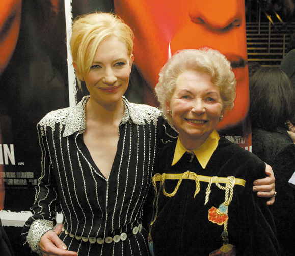 <em>Cate Blanchett with Bernadette Guerin (the real-life Veronica's mother).</em>