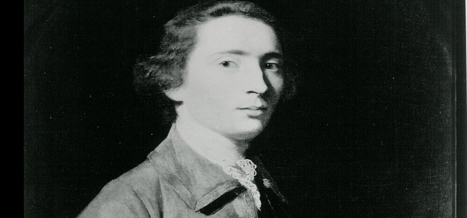 A painting of Charles Carroll as a young man.