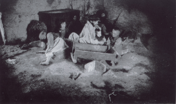 An Irish family during the Famine.