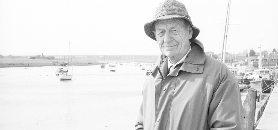 William Trevor. Photo by Jerry Bauer.