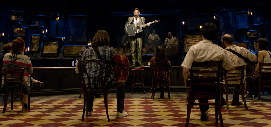 "Steve Kazee as ""Guy"" in Once, the musical."