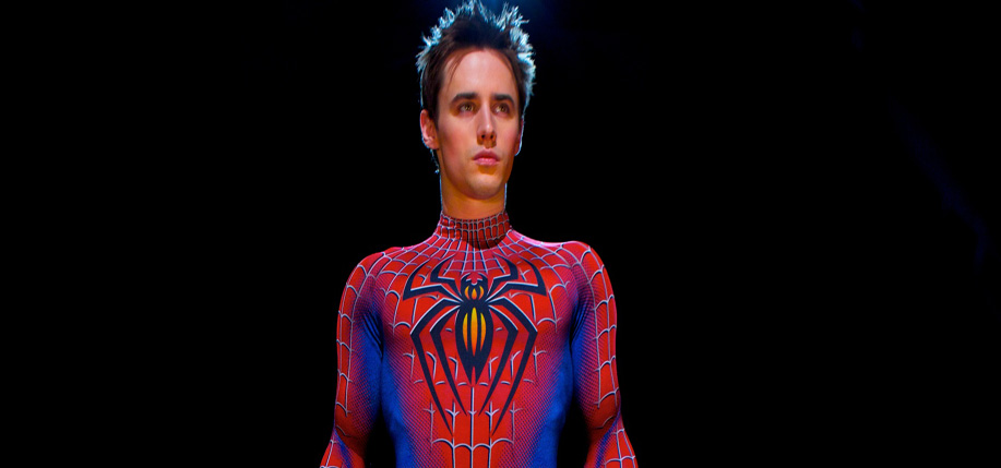 Reeve Carney as Peter Parker in Spider-Man: Turn Off the Dark