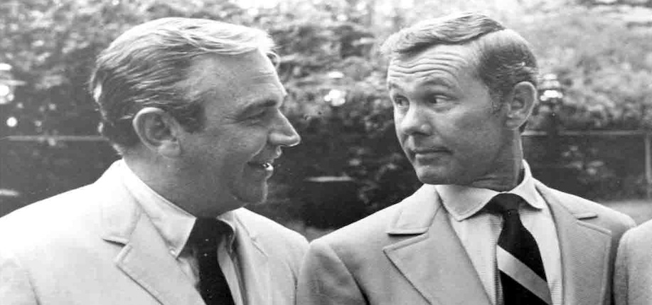 Donald Keough  and Johnny Carson