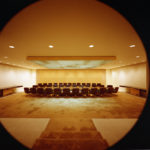 A conference room in the Ford Foundation building. Photo courtesy of Kevin Roche, John Dinkeloo and Associates.