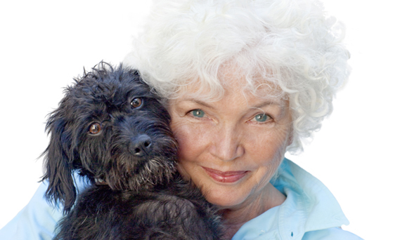 Fionnula Flanagan and her dog, Betty.