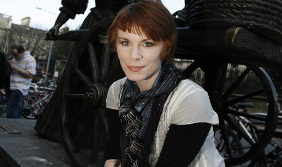 Author Tana French pictured in Dublin's Grafton St.