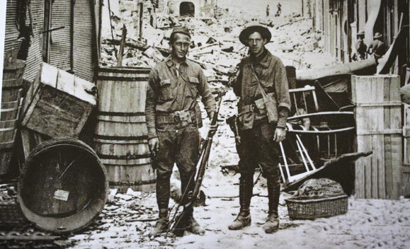 Private William Tally Mallon in France, a few days before his death. Photo courtesy of Plunkett Nugent.