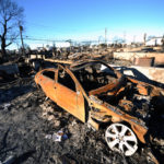 A destroyed car in Breezy Point. Photo: Peter Foley.