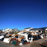 Destroyed belongings of Breezy Point residents piled up after Hurricane Sandy. Photo: Peter Foley.