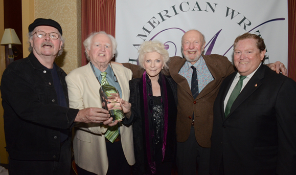 Tom Paxton, Malachy McCourt, Judy Collins, Pete Seeger and Tom Moran at the IAW&A Eugene O'Neill Lifetime Achievement Award ceremony.
