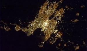 Commander Chris Hadfield's photo of Dublin from space.