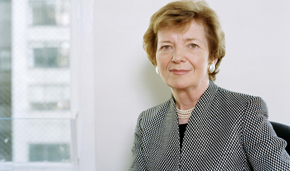 Former President of Ireland Mary Robinson.