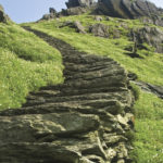 Skellig Michael's southern stone stairway. Photo: Chris Ryan.