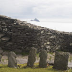 Cemetery at the hermitage atop Skellig Michael; Little Skellig in background. Photo: Chris Ryan.