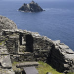A grave at the hermitage on Skellig Michael; Little Skellig in distance. Photo: Chris Ryan.