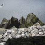 A platform at the southern peak hermitage on Skellig Michael. Photo: Chris Ryan.