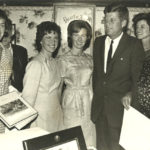 Jean Kennedy Smith and President Kennedy with Irish cousins Josie and Mary Ann Ryan. New Ross, 1963. Photo: Irish Photo Archives/