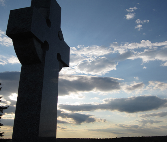 Middle Island memorial cross comemmorates the Miramichi region's Irish heritage. Photo: John Kernaghan.