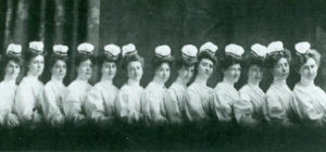 Irish American nurses, from the 1905 graduating class of Chicago's Mercy Hospital