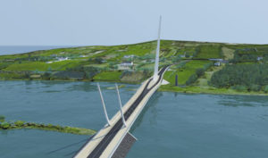 The plans for the Narrow Water Bridge