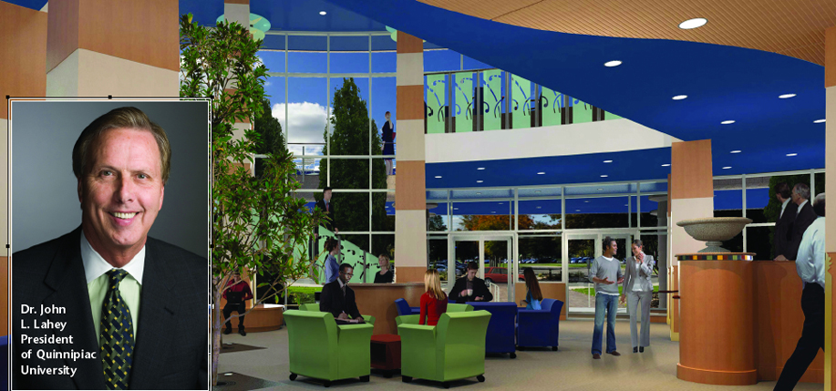 The interior plans for Quinnipiac University's Frank H. Netter MD School of Medicine.