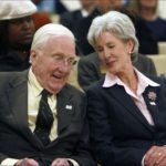 Secretary Sebelius and her father, former Ohio governor Jack Gilligan