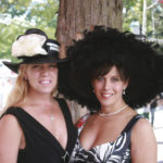 Sisters Kathleen and Laurie Cronin show Saratoga's glamorous spirit. Photo: Liz O'Connell