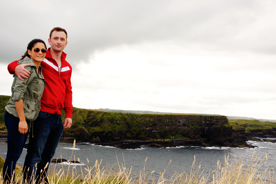 Me and Brendan at the Giant's Causeway, Northern Ireland