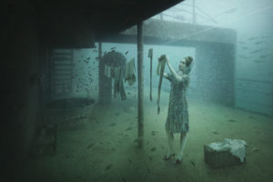 """The resting ships at the bottom of the sea offer a unique background for the photographs of Andreas Franke. The photographer says: """"With my photographs of sunken shipwrecks, I want to pull the spectators into unreal and strange worlds. Mystified scenes of the past play within a fictional space. Dreamworlds you can get lost in or that you can identify with. This creates a new and unexpected atmosphere. This work shows [a lot] of myself, since I am always on the lookout for stunning themes to create new images never seen before."""" Photo: Andreas Franke."""