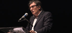 Gabriel Byrne at the Irish Arts Center's PoetryFest event in tribute to Seamus Heaney at St. Anns Warehouse. Photo by NIall McKay.
