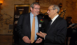Michael J. Dowling and Mario Cuomo at the 2013 Irish America Business 100 awards luncheon. Photo by Nuala Purcell