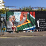 The Nelson Mandela mural on Falls Road in Belfast.