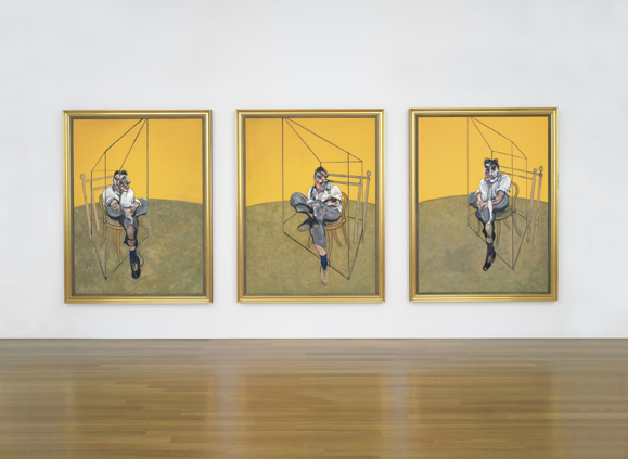 Francis Bacon's 1969 triptych Three Studies of Lucian Freud, which sold at Christy's for $142.2 million.