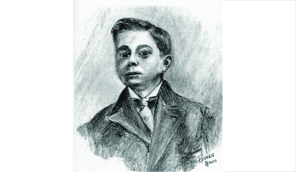 John J. Callahan, c. 1905. Charcoal on paper, by Rosalie Lewis.