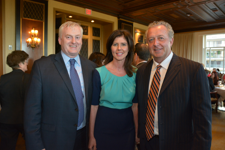 Sean Halpin, NYC Council Member Elizabeth Crowley (D-Queens), Fay Devlin (co-chair).