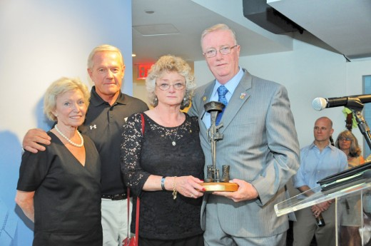 Rita and Flip Mullen (left) with the parents of Captain John J. McKenna IV, USMC, who was honored by Legends in Valor at a reception on Thursday, July 10. McKenna, also a former NY State Police officer, was killed in action in 2006 attempting to rescue a member of his platoon.