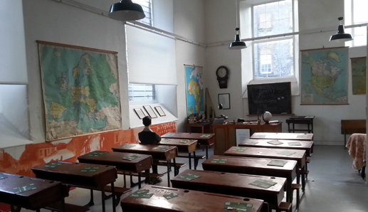 The school room Frank McCourt attended as a child is now one room in the Frank McCourt Museum. Photo: courtesy of Frank McCourt Museum.