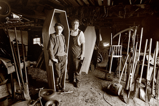 Coffin-maker, Ohermong, Co. Kerry, 1985.